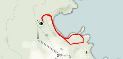 Sea Caves and Black Sand Beach Trail Map
