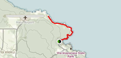 Wai`anapanapa Coast Trail North Map