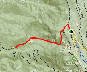 Chimney Canyon Trail Map