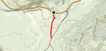 Lamar River Stock Cutoff Trail Map