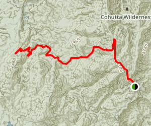 Panther Creek Falls Trail Map