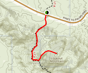 Lookout Mountain via PCT Map