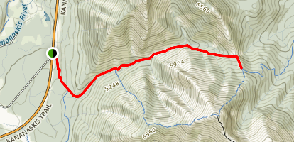 Baldy Pass Trail Map