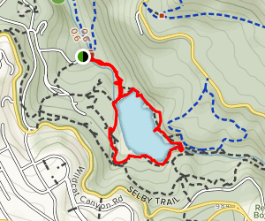 Wildcat Gorge and Lake Anza Loop Map