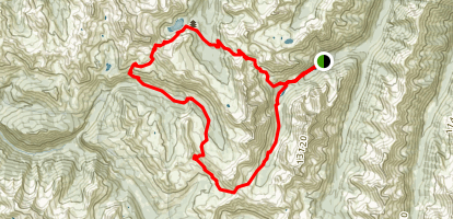 North Fork of Crystal River Loop to Snowmass Lake Map