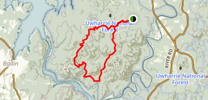 Uwharrie Jeep Trail Map