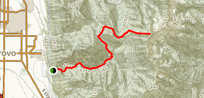 Provo Peak from Slate Canyon Map