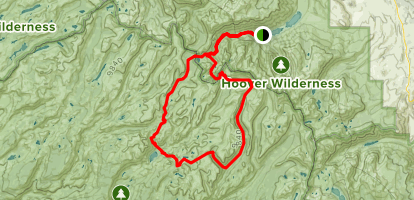 Piute Mountain to Peeler Lake Loop Trail Map