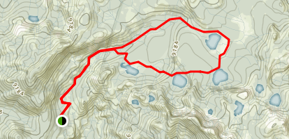Dinkey Lakes Trail Map