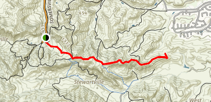 Ridge Trail to Prospect Tunnel Map