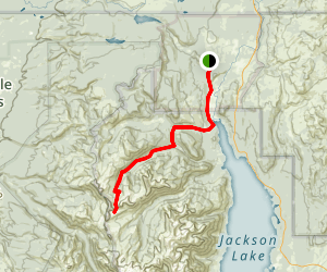 Owl Creek Trail to Moose Basin Divide Map
