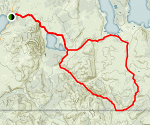 Heart Lake and the Two Ocean Plateau Loop Trail Map