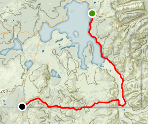 The Thorofare and the South Boundary Trail Map
