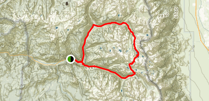 Rae Lakes Trail Map