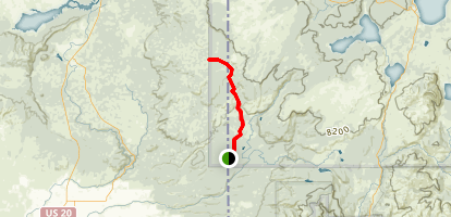 Boundary Creek to Buffalo Lake Trail Map