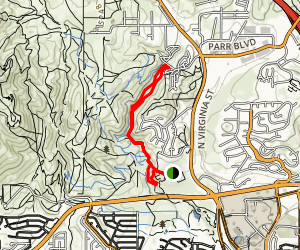 Evans Canyon and Miner's Trail Loop  Map