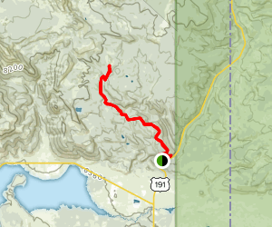 South Teepee Creek Road Trail Map