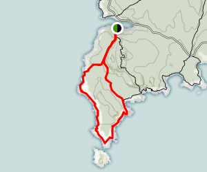 Western Head and Cliff Trails Map