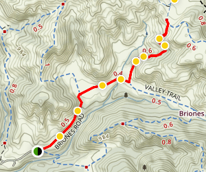 Old Briones Road Trail Map