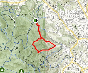 Diablo View Trail Map