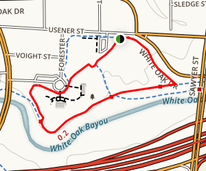 White Oak Bayou Hike and Bike Trail Map