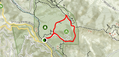 Round Top Trail Loop Map