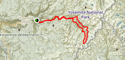 Merced River High Trail Map