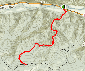 Lower Dadd Gulch Trail Map