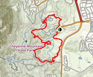 Cheyenne Mountain State Park Big Loop Trail Map
