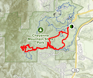 Talon & Sundance Trail Loop Map