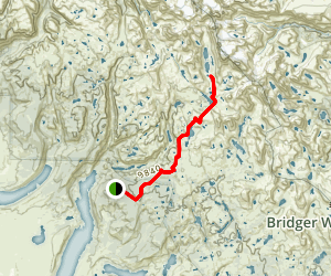 Titcomb Basin Trail Map
