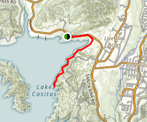 Lake Casitas Trail Map