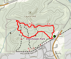 Hillview, Red Oak, and Cedar Flats Trails Map