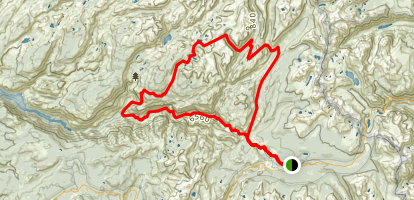Benson Pass - Northeast Yosemite Grand Tour Map