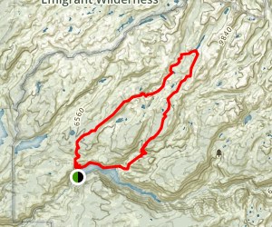 Jack Main Canyon and Tilden Lake Trail Map