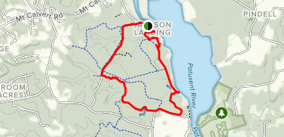 Patuxent River Scenic Trail, Blue, Yellow, Green and Brown Loop Map