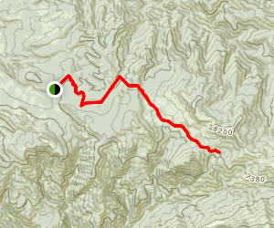 Thousand Springs Trail and Castle Lake Map