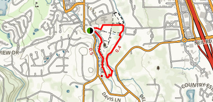 Quail Run and Flume Trail Loop Map