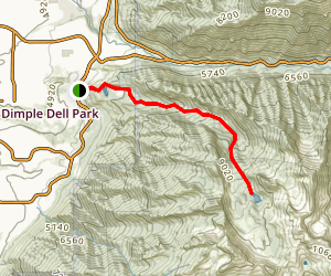 Lower and Upper Bell's Canyon Reservoir Trail Map