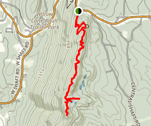 Hoosac Range Trail to Spruce Hill Map