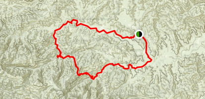 Cedar Creek-Fishbowl Loop Trail Map