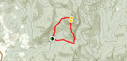 Camel's Hump Loop via Burrows Trail Map