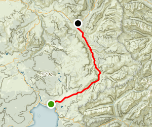 Mist Creek Pass Trail Map