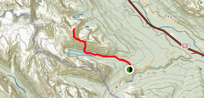 Boom Lake Trail to Mount Bell Map