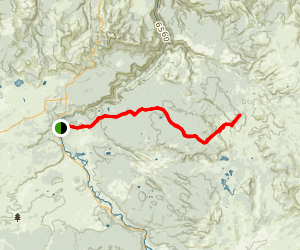 Wapiti Lake Trail Map