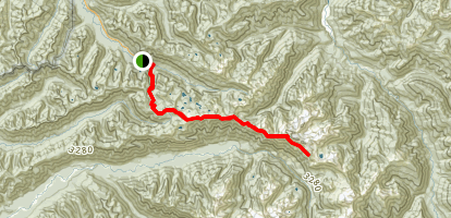 Mount Carrie: High Divide Trail Route Map