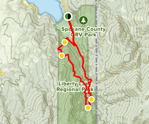 Liberty Lake Loop Trail Map