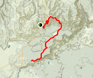 Dunraven Pass to Canyon Village Trail Map