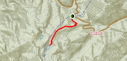 Blossom Lakes Trail Map