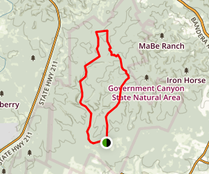 Goverment Canyon Sendro Balcones Joe Johnston Loop Trail Map